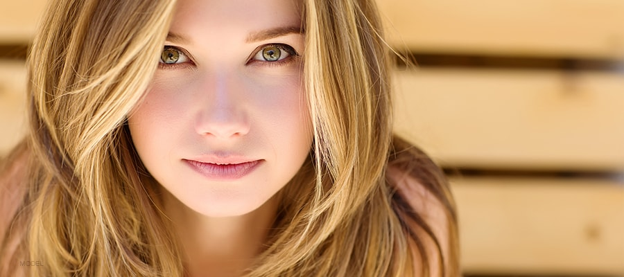Beautiful Young Female With Green Eyes
